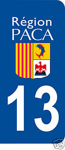 1 Sticker plaque AUTO adhésif département 13
