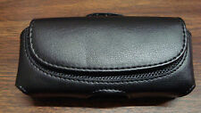 Black Leather Belt Clip Pouch for StraightTalk Tracfone Net10 LG 440G LG440G