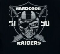 Hardcore Raiders Skull Logo Mens 2XL Black T-Shirt