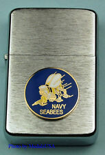 U.S. NAVY SEABEES WIND PROOF PREMIUM USN LIGHTER IN A GIFT BOX  USN SBC044