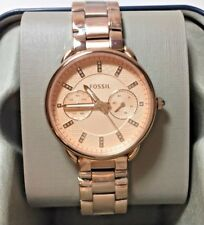 Fossil Womens Watch Tailor Multifunction Spirographic Glitz Rose Gold MSRP $175