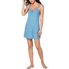 Jenni Sleepshirt pjs Ribbed Knit Chemise nightgown Blue Large L sleeveless