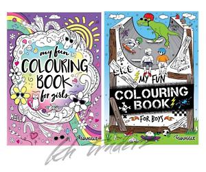 KIDS Activity Colouring Books For  Boys / Girls A4 Children Colouring Books