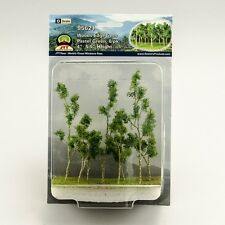 """JTT Scenery Products Pastel Green Woods Edge Trees O-Scale, 4""""-5.5"""" 8/pk 95621"""