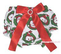 Xmas Newborn Santa Claus Bloomer Christmas Baby Girls Pantie Red Bows 6m-3Year