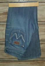"""WRANGLER Premium Patch """"Mae"""" Distressed 9/10  32L Sit above Hips Boot Cut Jeans"""
