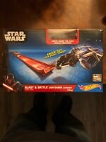 Hot Wheels Star Wars Blast & Battle Lightsaber Launcher Darth Vader vehicle `