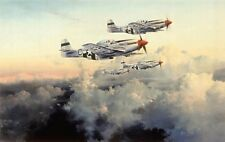"""""""Fourth Fighter Patrol"""", P-51 Mustangs, signed by Robert Taylor and pilots"""