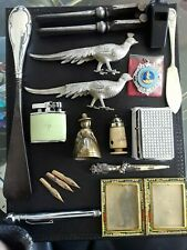 Job lot of vintage collectables inc. Hallmarked Silver