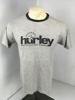 VTG 90s Hurley Intl Fun Company Graay Ringer Heather T-Shirt M USA MADE Skate