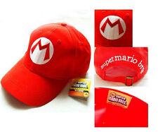 Super Mario Bros Adult Kids Costume Hat Anime Cosplay Red Mario Cap
