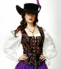 Renaissance Medieval White Under Blouse Adult Halloween Costume Top Shirt 02787
