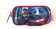 Marvel Captain America 3 Pocket Pencil Case NWT FREE SHIPPING