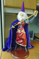 "24"" Tall 12"" wide Vintage Standing Wizard Figure with Dragon Staff"