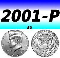 2001-P KENNEDY CLEAR BRIGHT UN-CIRCULATED HALF DOLLAR.===BU===C/N===