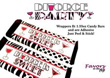 12 Divorce Candy Bar Wrappers Adhesive Party Favors