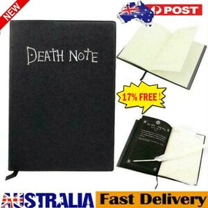 Death Note Book Cosplay Notebook Journal Diary  With Feather AU STOCK