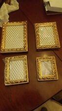 stock di 4 cornici lavorazione foglia oro toscana made in italy - nuove - 80euro