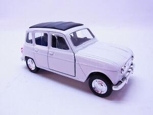 81969 Welly Renault 4 R4 Limousine 1961 Blanc 1:3 0 Maquette de Voiture Neuf