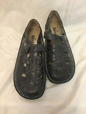 Alegria PG Lite Women's Sz 38 Gray Leather Mary Jane Nursing Shoes