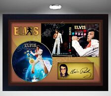 Elvis Presley Aloha from Hawai SIGNED FRAMED PRINT PHOTO CD Disc Perfect gift #2