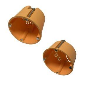 Hohlwanddosen Hohlraumdosen Schalterdosen orange flach 45mm tief 60mm wählbar