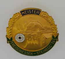 MEDAGLIA SPILLA MEISTER FREISCHIESSEN STEINEGG 1976 COLLEPIETRA  (BZ)  COD.9