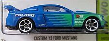 Hot Wheels 2015 HW Workshop Custom '12 Ford Mustang Falken Racing Blue Green