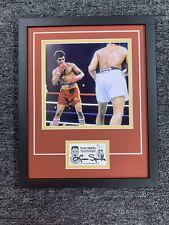 Leon Spinks Signed Cut Jsa Auto Custom Framed Boxing