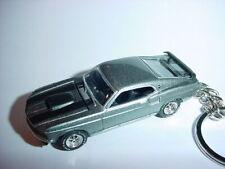 3D SILVER 1969 FORD MUSTANG BOSS 429 CUSTOM KEYCHAIN KEY keyring JOHN WICK'S CAR
