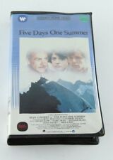 Five Days One Summer VHS Clamshell Rare Sean Connery 1982 Drama Fred Zinnemann