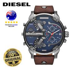 Diesel DZ7314 Mr.Daddy 2.0 Brown Leather Strap Chronograph Quartz Wrist Watch
