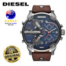 Diesel DZ7314 Mr.Daddy 2.0 Brown Leather Strap Chronograph Quartz Wrist Watch
