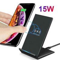 Support chargeur rapide sans fil 15W Station chargement Qi pr iPhone 11 Pro DE