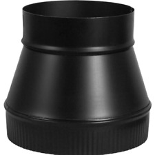 Imperial Black Matte Steel Stove Pipe Increaser Replacement Stove Pipe Fittings