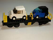 Lego 9V Train City Yellow Cargo Train Car Flatbed FROM SET 7939