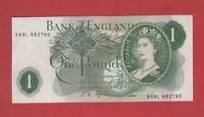 ONE POUND £1 FFORDE 1967 PREFIX  [R69L 882793] REPLACEMENT NOTE UNCIRCULATED