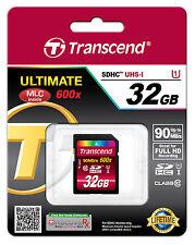 TRANSCEND 32 GB SDHC CARTE MÉMOIRE SD HC UHS-I 32GO CARD - (TS32GSDHC10U1)