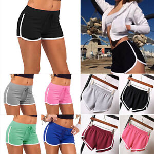 Womens Summer Gym Yoga Hot Pants Ladies Running Shorts Beach Sports Plus Size