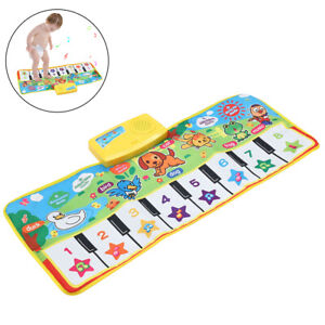 Piano Mat Baby Kids Play Musical Toy Gift Touch Learn Singing Keyboard Carpet UK