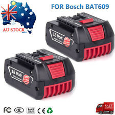 For Bosch 18V 4.0AH Lithium-ion Battery 2Pack BAT609 BAT618 BAT025 BAT610G Tool