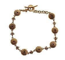 NWT $800 NIALAYA Authentic Women's Red CZ 18K Gold 925 Silver Bracelet s. M