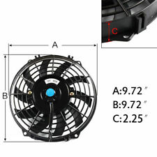 "9"" INCH PULL PUSH RADIATOR Electirc Thermo FIT Curved Blade FAN +MOUNTING"