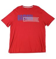Armani Exchange Mens T-Shirt Red Blue Size XL Logo Graphic Tee Crewneck $50 321