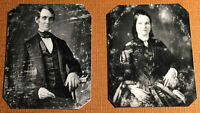 Set of President A. Licoln & Mary T Lincoln Portrait Wedding  tintype  C1064RP