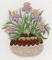 Iris in Pottery Brazilian embroidery kit #1422-EdMar threads/choose fabric color