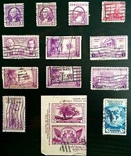 ANTIQUE RARE COLLECTIBLE SET UNITED STATES 3C THREE CENT POSTAGE STAMPS