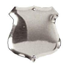 Trophy Side Shield (S021) - Silver / Chrome / (Metal) - With Free Engraving