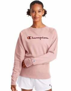 Champion Women's Athletics Powerblend Boyfriend Crew, Script Logo