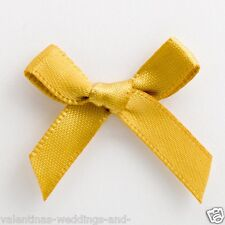 6mm Satin Bows 3cm Wide Pack of 100 Gold 7915
